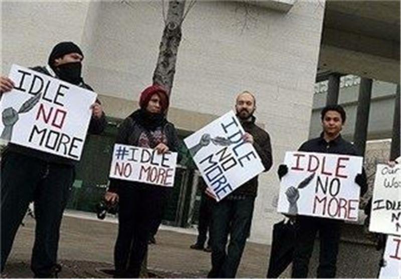 تظاهرات اعتراض آمیز مقابل سفارت کانادا در آمریکا