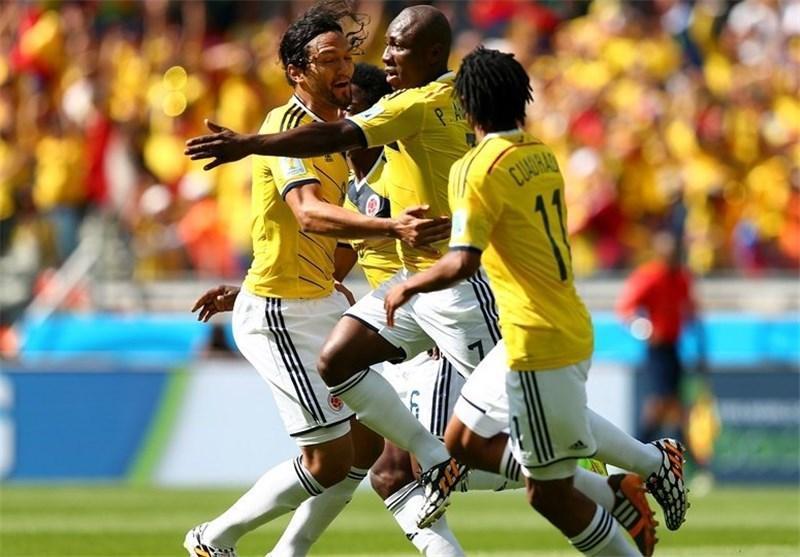 پیروزی یک نیمه ای کلمبیا برابر یونان
