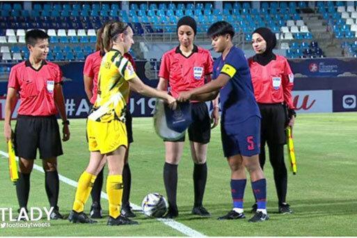 مهسا قربانی بازی استرالیا و تایلند را قضاوت کرد