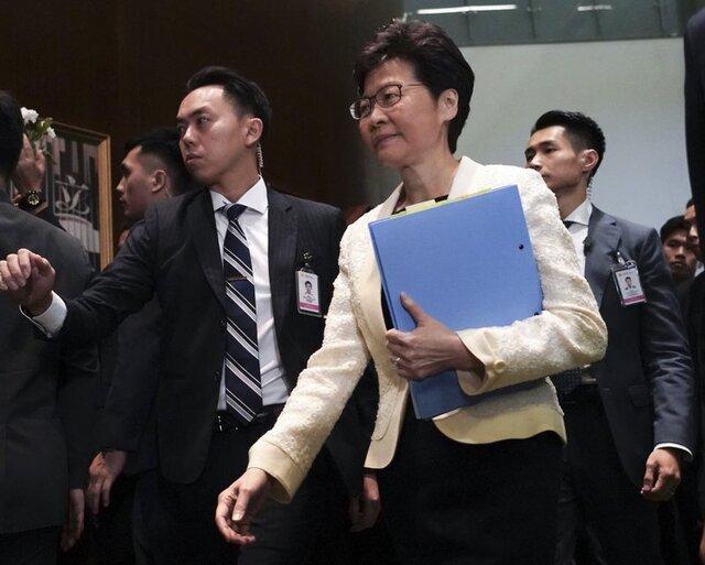 رهبر هنگ کنگ: ترمیم کابینه اولویت ندارد، تمرکز روی برقراری نظم است