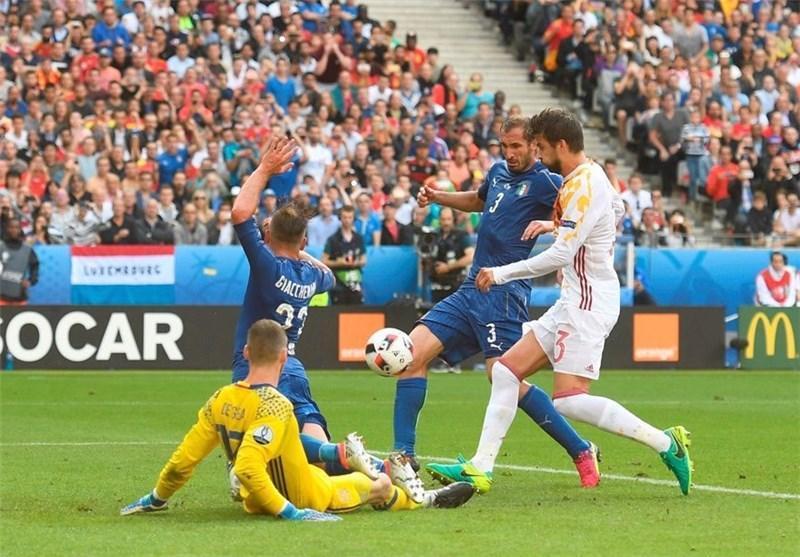 پیروزی ایتالیا مقابل اسپانیا در نیمه نخست