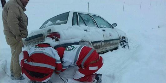 امدادرسانی به 1715 شهروند گرفتار در برف و کولاک