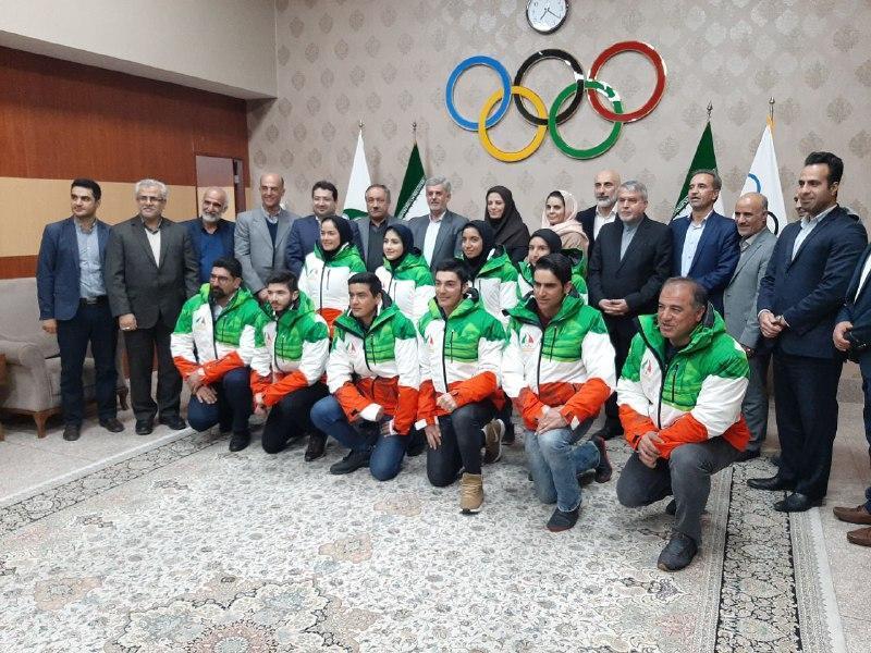 مراسم بدرقه ملی پوشان برای حضور در المپیک زمستانی جوانان برگزار گردید