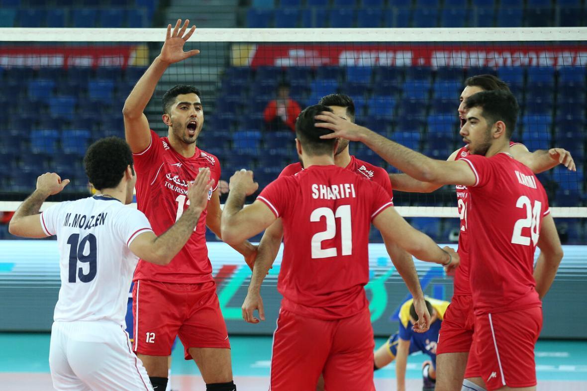 والیبال انتخابی المپیک، سروقامتان ایران با شکست قزاقستان به استقبال میزبان رفتند