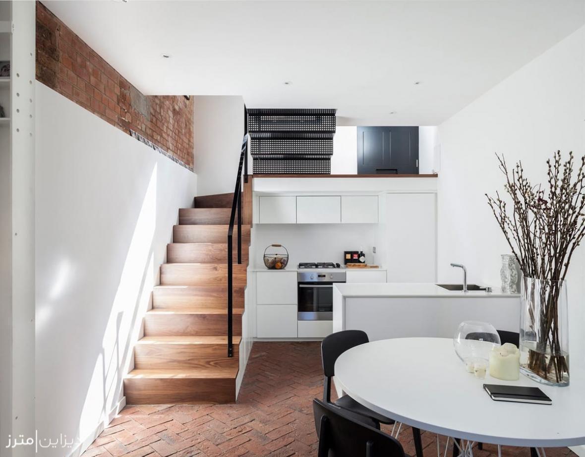 تغییر کاربری یک کارگاه مبل سازی قدیمی به خانه ای سه طبقه