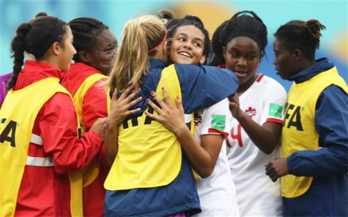 جام جهانی دختران نوجوان؛ کانادا اولین تیم یک چهارم شد