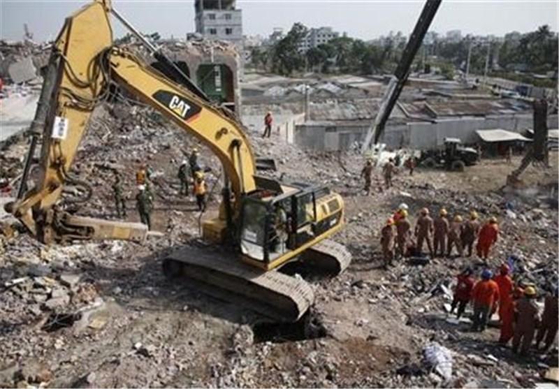 انتها عملیات آوار برداری از ساختمان فرو ریخته در بنگلادش