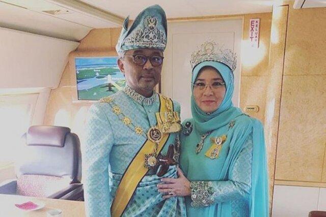 پادشاه و ملکه مالزی هم قرنطینه شدند
