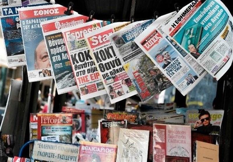 نشریات ترکیه، ترکیه و یونان در آنکارا مذاکره می نمایند، کسی که با طناب آمریکا داخل چاه برود، گیر می نماید