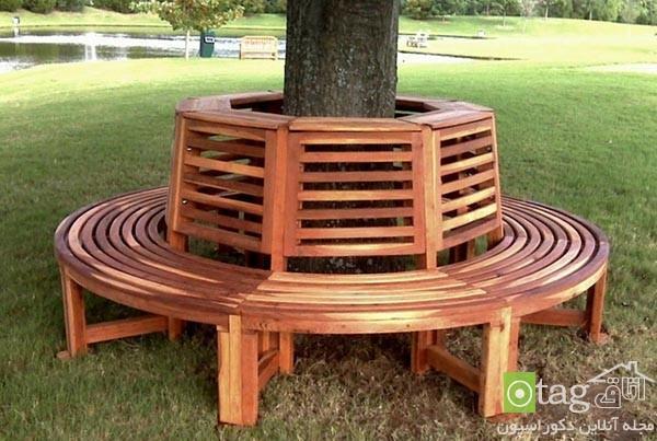مدل نیمکت درختی مناسب حیاط خانه، باغ خصوصی و پارک های عمومی