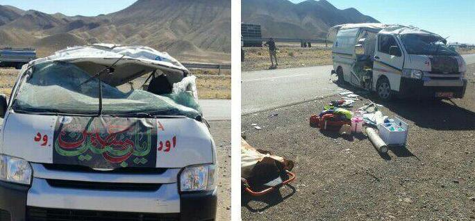 واژگونی آمبولانس اورژانس شاهرود، 2 نفر جان باختند