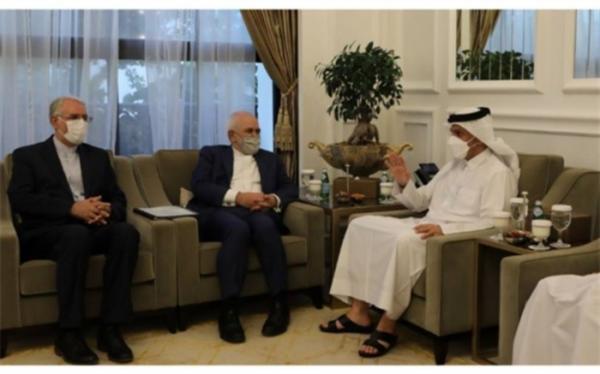 تاکید ظریف بر اهمیت روابط ایران و قطر بر پایه همکاری های دوجانبه و منطقه ای