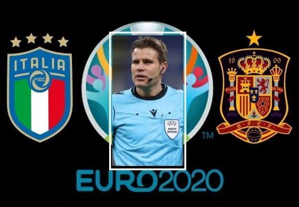 یورو 2020، بریش ملاقات حساس ایتالیا - اسپانیا را سوت می زند
