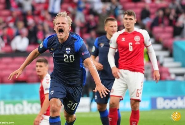 (ویدیو) خلاصه بازی دانمارک 0 - 1 فنلاند 22 خرداد 00