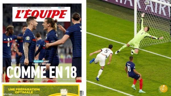 (عکس) جام ملت های اروپا یادآور جنگ جهانی!