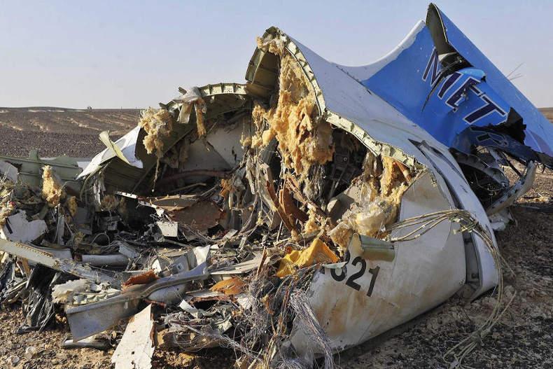 بخشی از لاشه هواپیمای مسافربری مصری در اعماق مدیترانه یافت شد