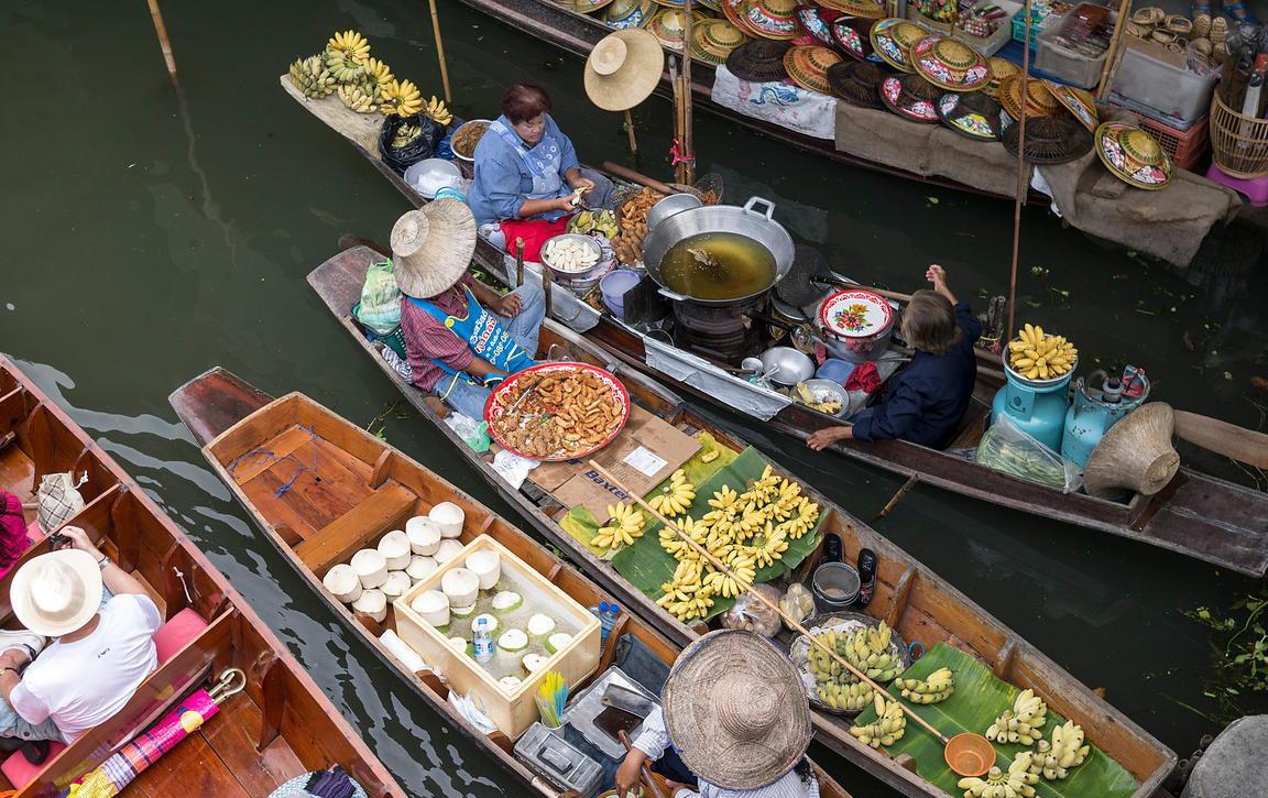 آشنایی با بازارهای شناور بانکوک