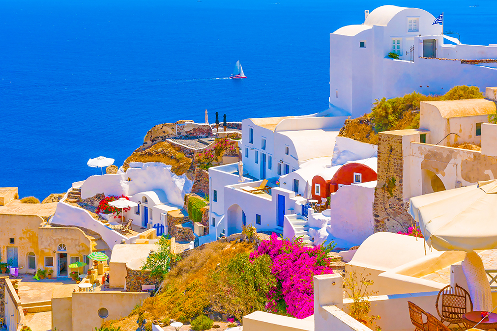 جزیره زیبا و خارق العاده سانتورینی در یونان